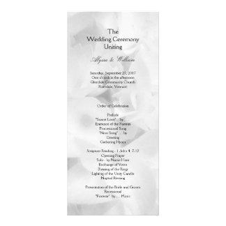 Programa largo asequible blanco y negro del boda tarjeta publicitaria personalizada