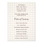 Programa ligero del boda del modelo del control invitación 12,7 x 17,8 cm