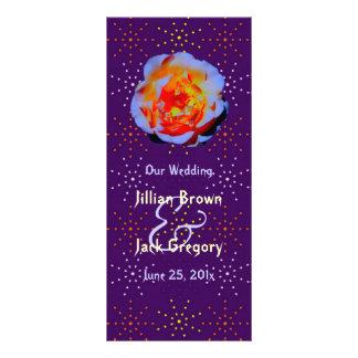 Programa manchado color de rosa gótico del boda tarjetas publicitarias