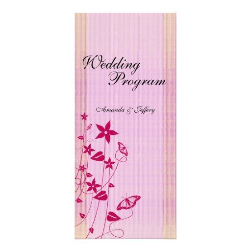 Programa mariposa rosada y roja del | del boda de  tarjetas publicitarias personalizadas