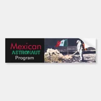 PROGRAMA MEXICANO del ASTRONAUTA - pegatina para e Pegatina Para Auto