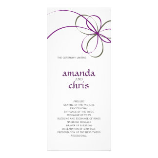 Programa moderno del boda de la cinta tarjeta publicitaria a todo color