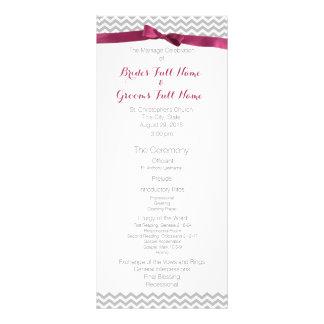 Programa moderno del boda del modelo de zigzag tarjeta publicitaria