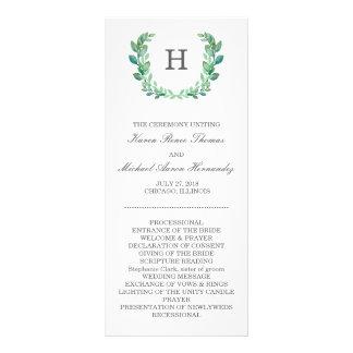 Programa natural del boda de la guirnalda lona