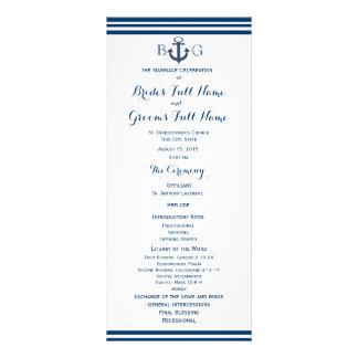 Programa náutico del boda del ancla lonas