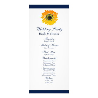 Programa náutico del boda del girasol de las rayas tarjeta publicitaria
