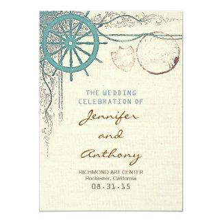 Programa náutico del boda invitación 12,7 x 17,8 cm