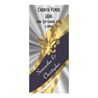 Programa negro del boda de la plata y del oro lona