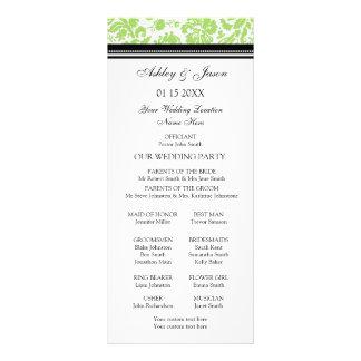 Programa negro del boda del damasco de la cal lonas personalizadas