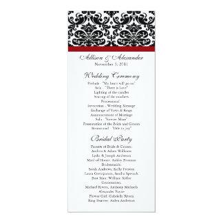 Programa negro del boda del damasco comunicados personales