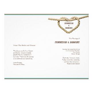 Programa occidental del boda del nudo de amor del tarjetas publicitarias