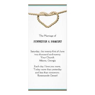 Programa occidental del boda del nudo de amor del plantillas de lonas