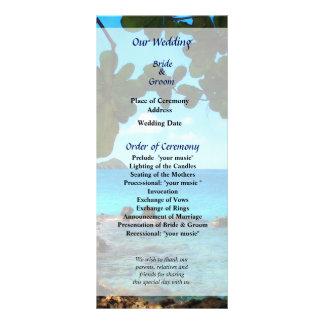 Programa pacífico del boda de St Thomas de la play Lona Personalizada