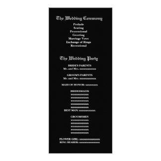 Programa plumoso blanco y negro del boda del damas comunicados personales