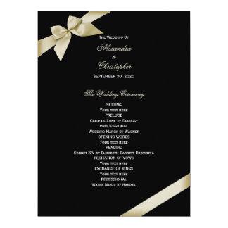 """Programa poner crema del boda de la cinta invitación 6.5"""" x 8.75"""""""