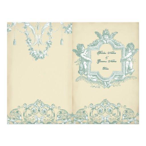 Programa (poner crema) del boda del BI-doblez de G Tarjetón
