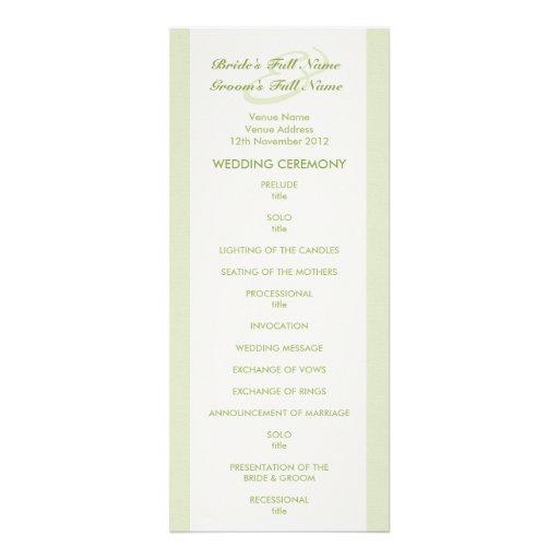 Programa poner crema verde del boda del tulipán