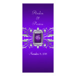 Programa púrpura del boda de la grande duquesa vol tarjeta publicitaria a todo color