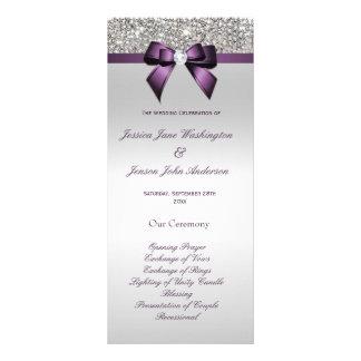 Programa púrpura del boda del arco de la lona publicitaria