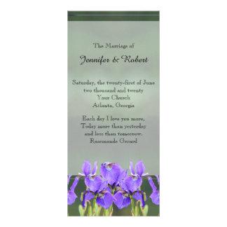 Programa púrpura del boda del iris lona personalizada