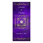 Programa púrpura del boda del vitral del emperador diseños de tarjetas publicitarias