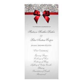 Programa rojo del boda del arco de las falsas plantilla de lona