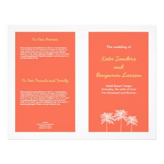 """Programa rosado coralino del boda del verano de folleto 8.5"""" x 11"""""""