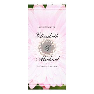 Programa rosado del boda de la margarita del plantilla de lona