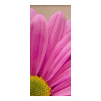 Programa rosado del boda de la margarita plantilla de lona