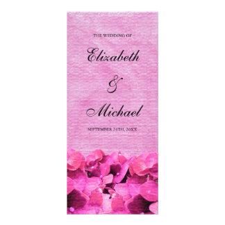 Programa rosado del boda del Hydrangea Lonas Publicitarias