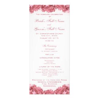 Programa rosado del boda del Hydrangea Lonas