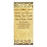 Programa rústico del boda de Camo del país de la v Plantilla De Lona