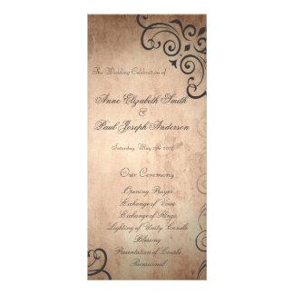 Programa rústico del boda del vintage tarjetas publicitarias personalizadas