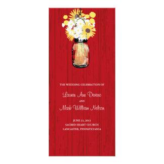 Programa rústico del tarro y de los Wildflowers de Lona Personalizada