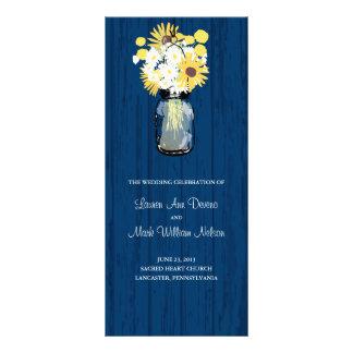 Programa rústico del tarro y de los Wildflowers de Lonas Personalizadas