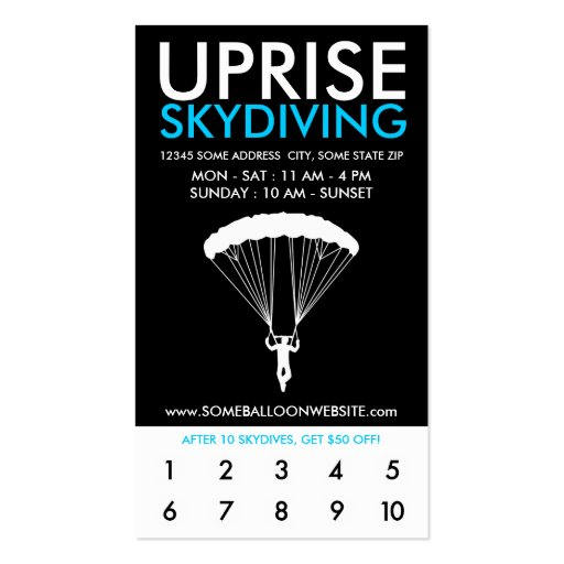 programa skydiving de las recompensas del levantam