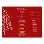 Programa triple del boda del invierno rojo tarjetones