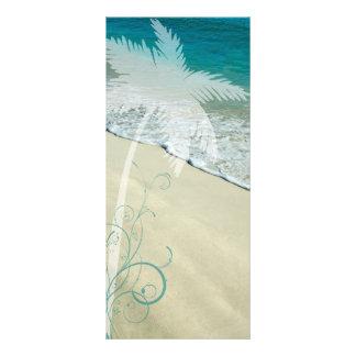 Programa tropical del boda de playa lona publicitaria