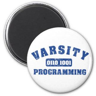 Programación del equipo universitario imán redondo 5 cm