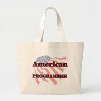 Programador americano bolsa tela grande
