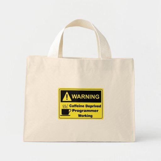 Programador amonestador del cafeína bolsas de mano