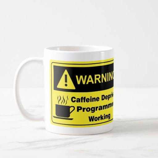 Programador amonestador del cafeína taza de café