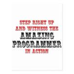 Programador asombroso en la acción postal