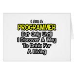 Programador. Bebida para una vida Tarjeta