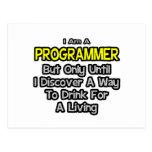 Programador. Bebida para una vida Tarjeta Postal