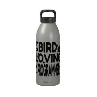 Programador cariñoso del pájaro botella de beber
