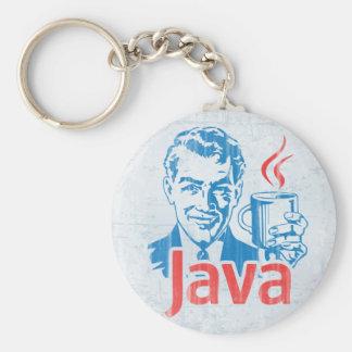 Programador de Java Llavero Redondo Tipo Pin