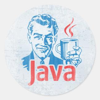 Programador de Java Pegatina Redonda