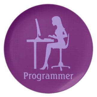 Programador de sexo femenino adaptable de la silue plato