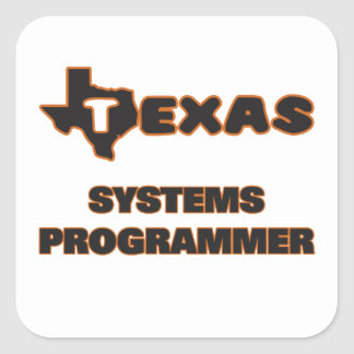 Programador de Tejas Pegatina Cuadrada